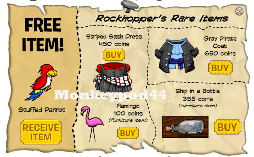rockhopper items